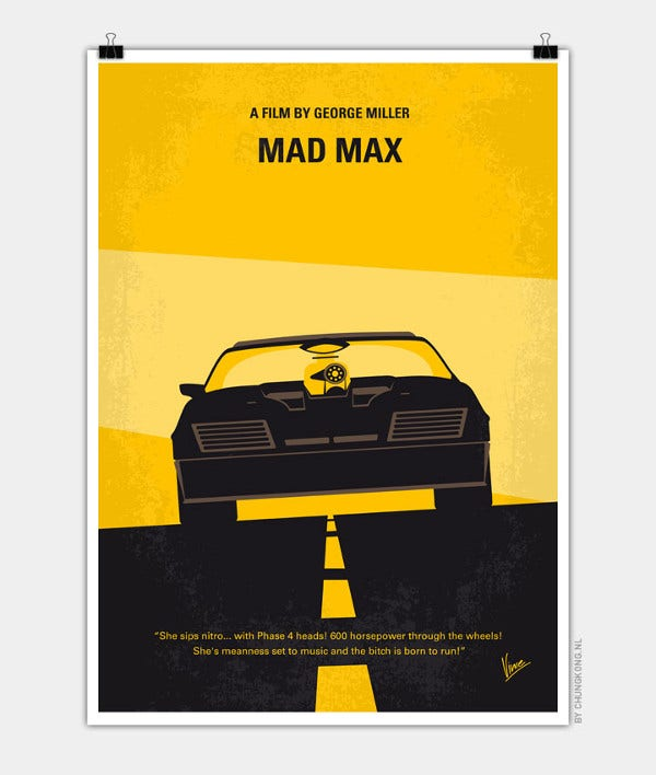 Minimalist Movie car Poster