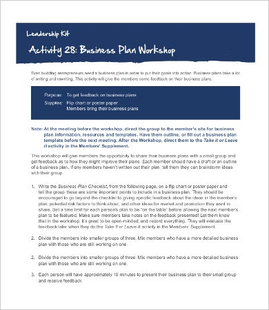 Business Workshop Planning Checklist Template
