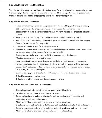Administrator Job Description Templates  Pdf Doc  Free