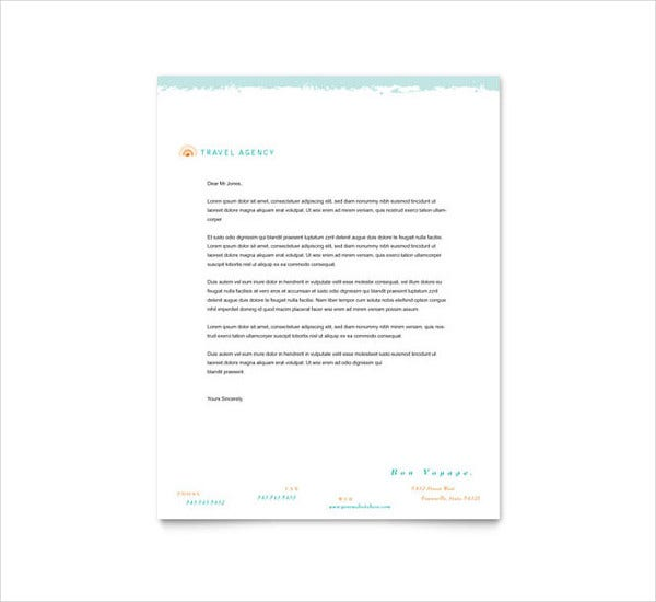 Travel Business Letterhead