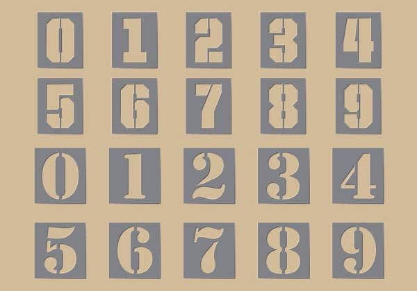 graphic about Free Printable Number Stencils titled 8+ Free of charge Printable Stencils - Free of charge PDF, JPG, PNG Structure