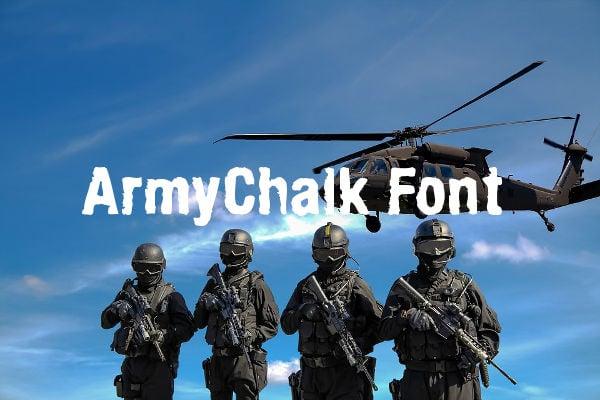 army chalk font