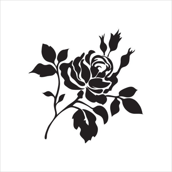 graphic relating to Printable Flowers Stencils called 8+ Absolutely free Printable Stencils - Totally free PDF, JPG, PNG Layout