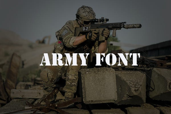 army logo font