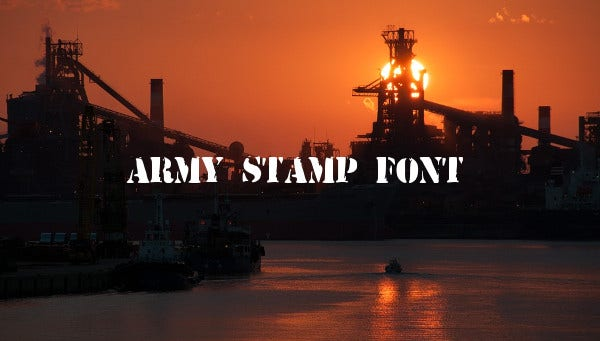 army-stamp-font