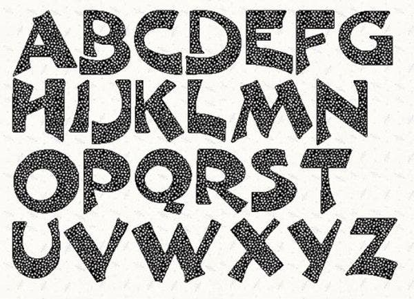 Crafty image inside printable lettering stencils