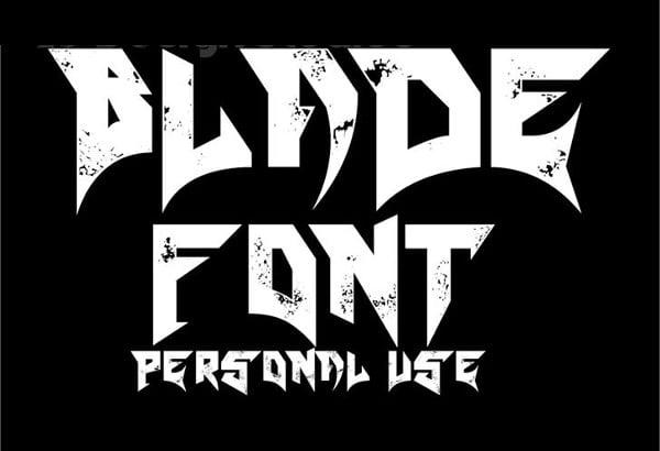 Free Metallica Font