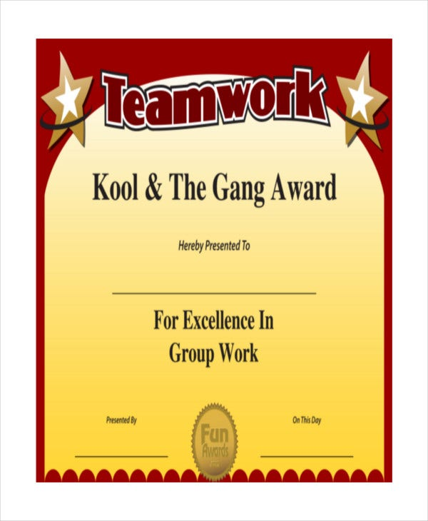 Free Award Certificate Templates Word