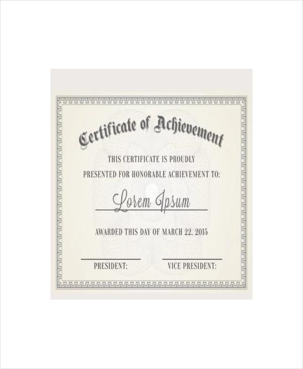 free vintage certificate template