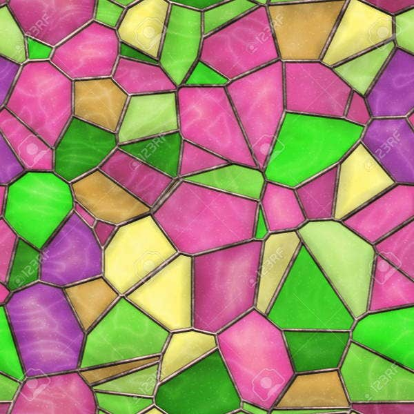 Seamless Stained Glass Texture