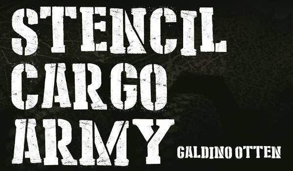 army military font