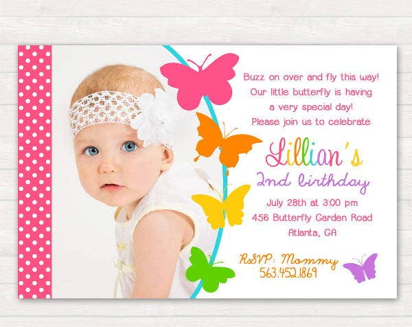 Printable Butterfly Invitation Template