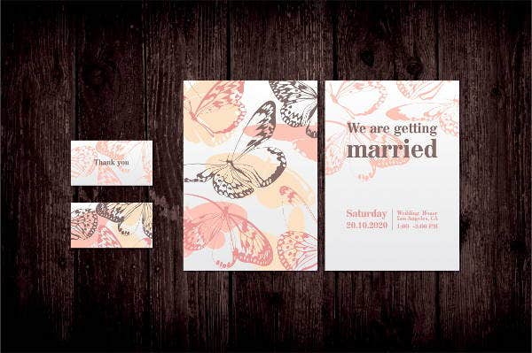 butterfly wedding invitation template1
