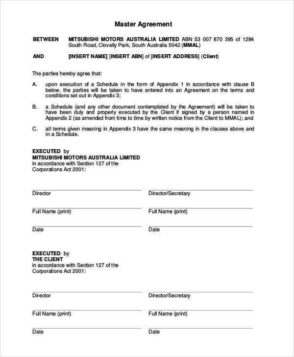 Vehicle Lease Agreement 9 Free PDF Documents Download – Car Lease Contract Template