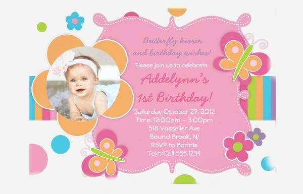 butterfly girly party invitation template