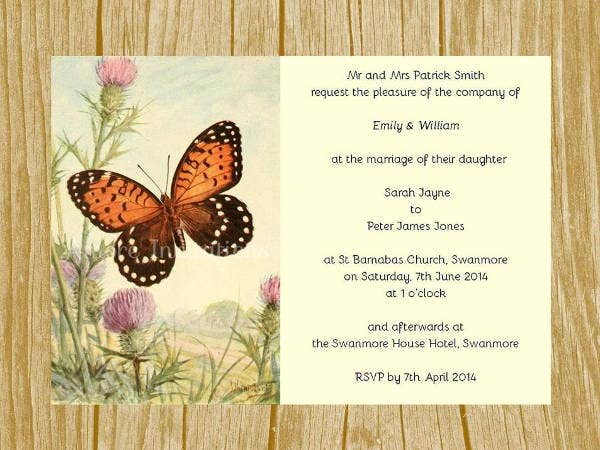 diy butterfly invitation template
