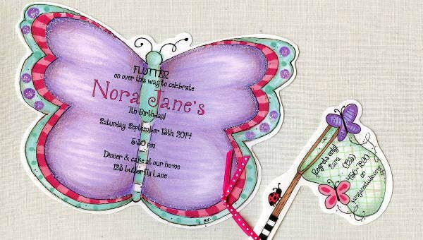 8  butterfly invitations