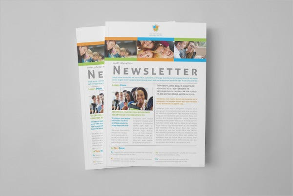 Teacher Educational Newsletter Brochure