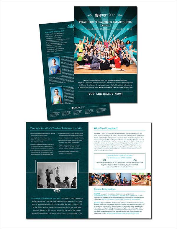 Teacher brochure templates 9 free psd vector ai eps for Training brochure template