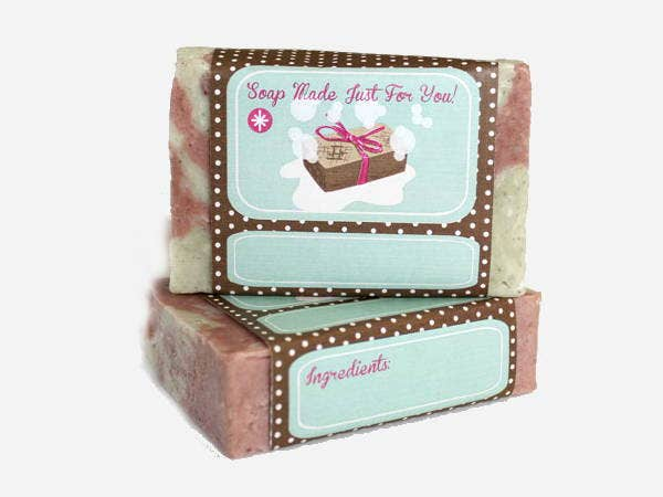 Brown Soap Label Template