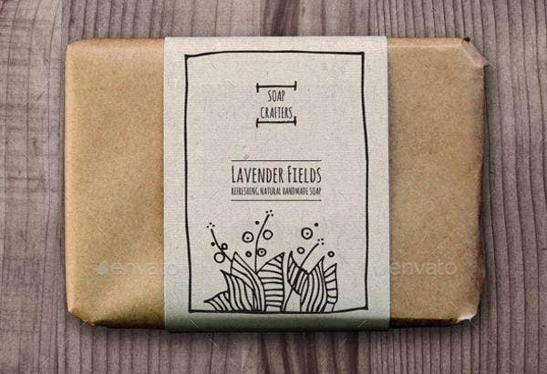 wrap around soap label template