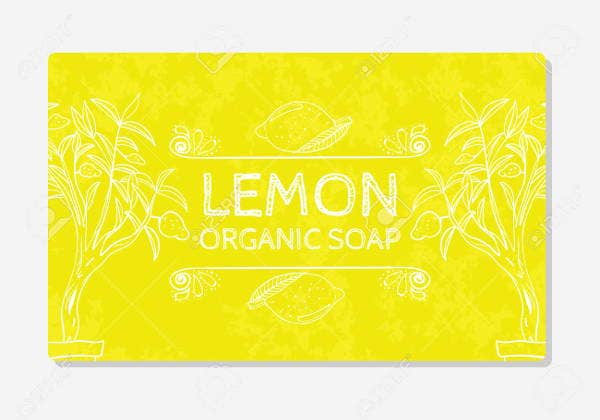 organic soap label template