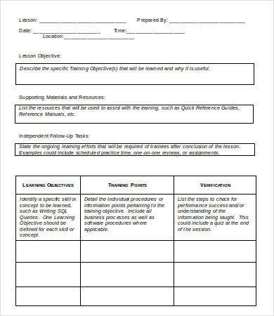Lesson Plan Template Word Datariouruguay