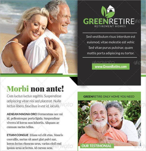 Green Retirement Homes Flyer Template