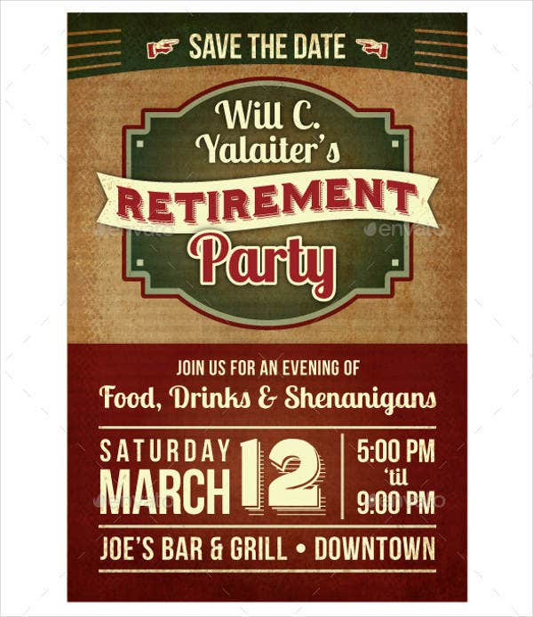 Retirement Announcement Flyer Template