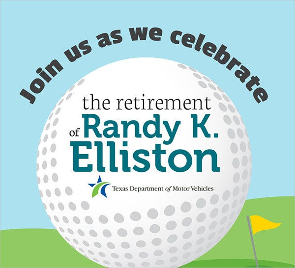 Retirement Celebrations Flyer Template