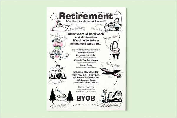 Retirement Poster Template Idas Ponderresearch Co