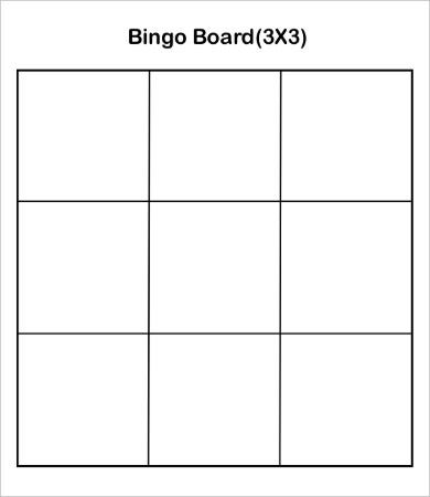 Bingo Card Template   Free Word Pdf Jpeg Vector Format