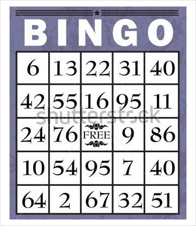 Bingo Card Template - 9+ Free Word, Pdf, Jpeg, Vector Format