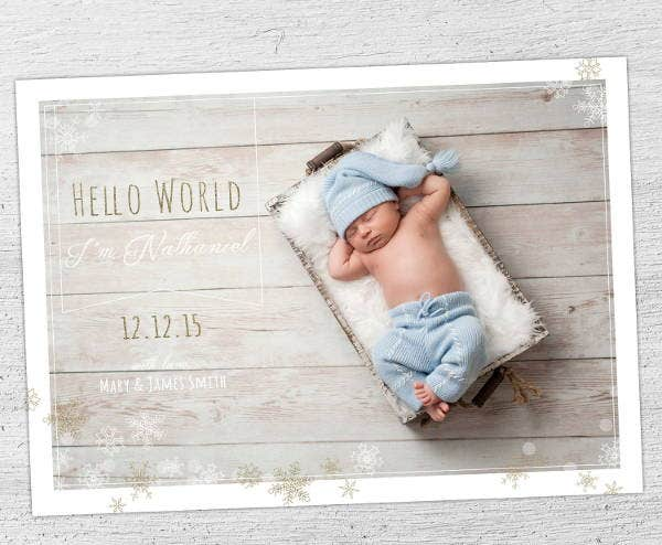 9 birth announcement templates printable psd ai format download