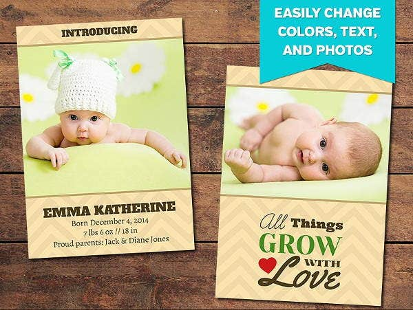 Gift Birth Announcement Template
