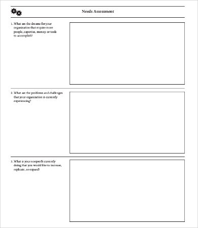 Sample Needs Assessment - 9+Free Word, Pdf Documents Download