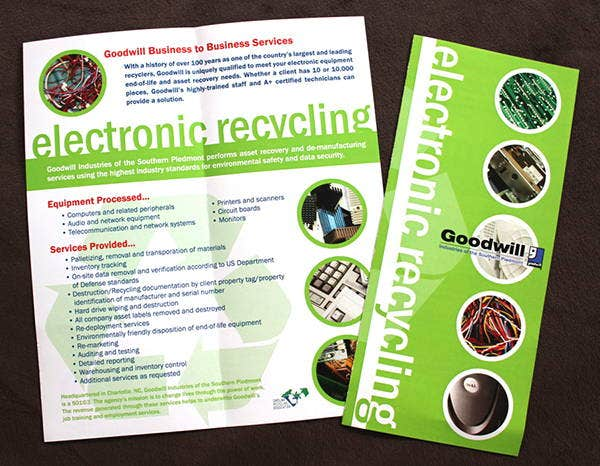 6 recycling brochure templates printable psd ai for Electronic brochure templates