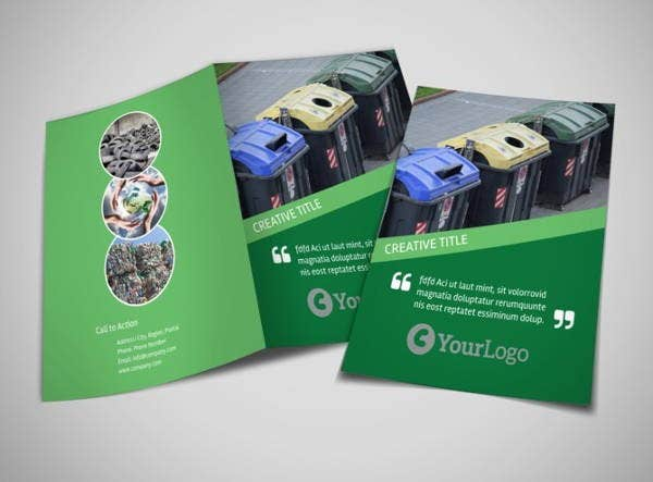 Green Recycling Brochure Template