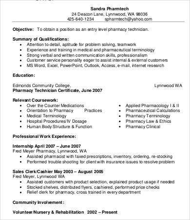 Pharmacist Resume   Free Word Pdf Documents Download  Free