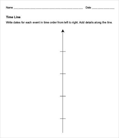 Blank Timeline Templates  Free Sample Example Format Download