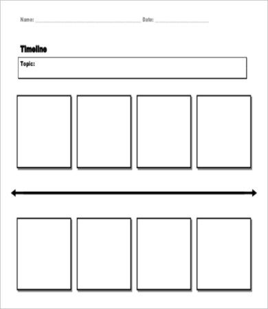 blank horizontal timeline template
