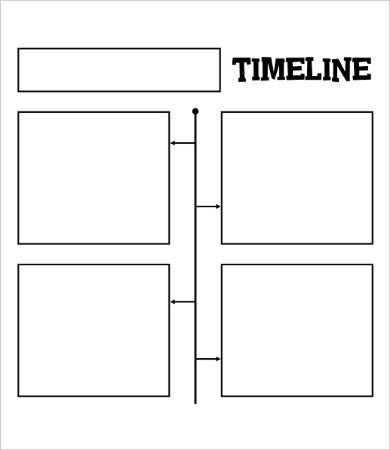 blank daily timeline template