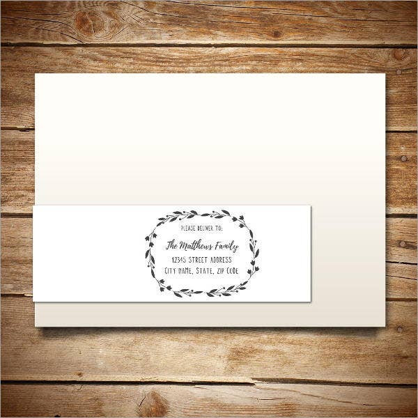 Printable Wrap Around Address Label