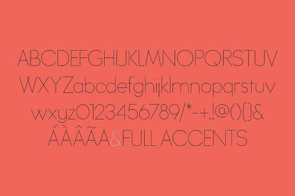Thin Sans Serif Font