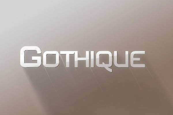 sans serif gothic font