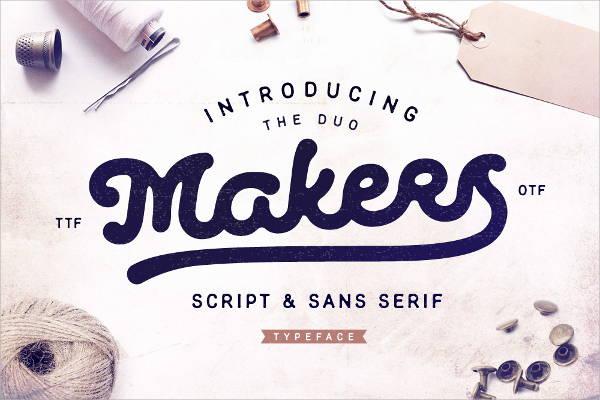 sans serif script font