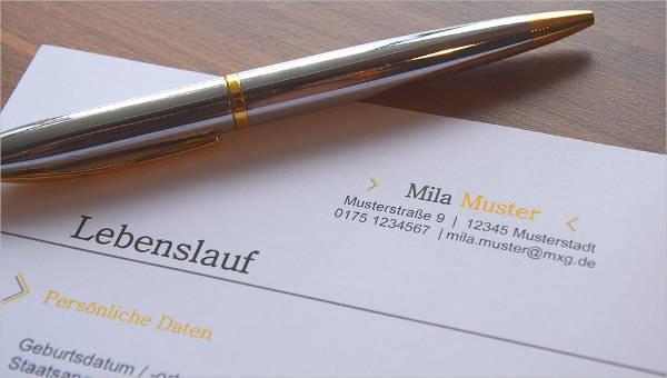 printable professional resume samples