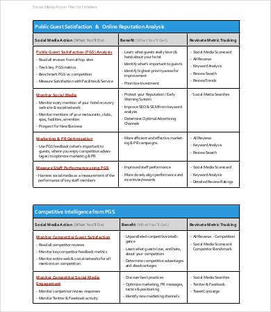 Social Media Plan Template   Free Word Pdf Documents Downlaod