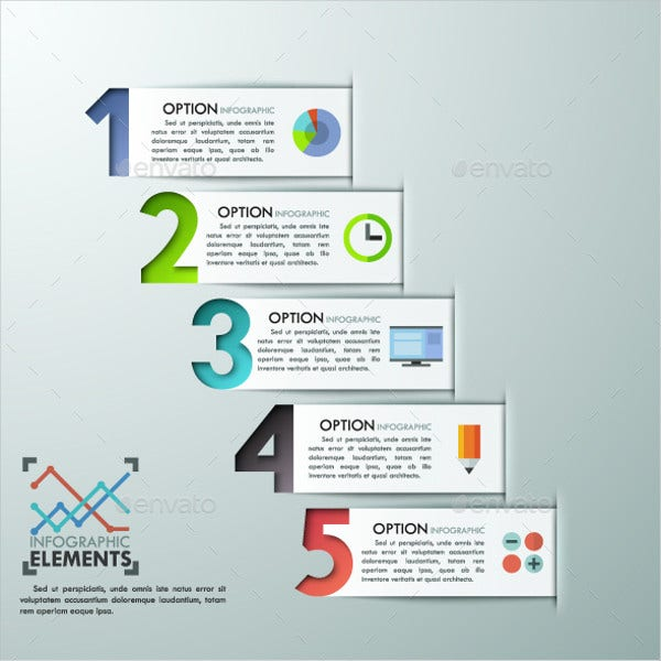 infographic number template