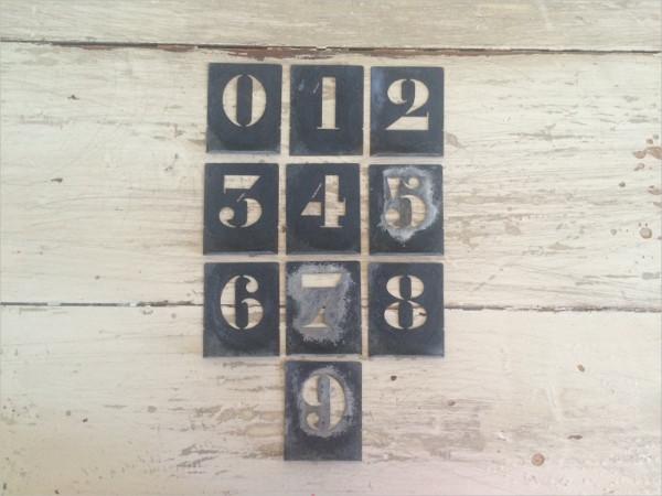 Vintage Number Template